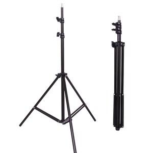 Image 5 - 50*70 см комплект освещения для фотосъемки 2 шт. 4 гнезда держатель лампы + 2 шт. софтбокса + 2 шт. 2 м осветительная стойка для внутреннего освещения фотостудии