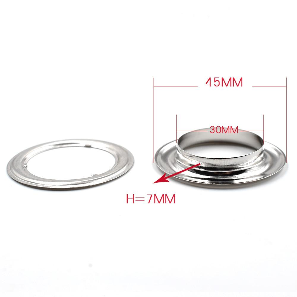 (20 teile/los) 30mm-40mm innendurchmesser Metall loch Kleidung & Zubehör. mais. ösen. ringe. niet snaps Öse installa