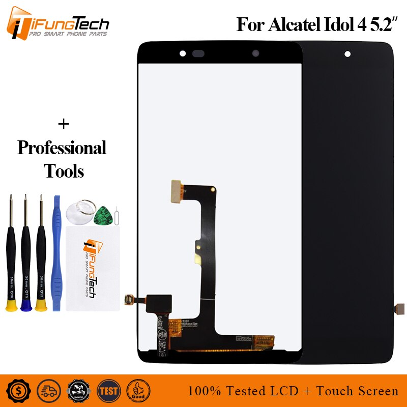 Para Alcatel Idol 4 OT6055 6055 6055 P 6055Y 6055B 6055 K pantalla LCD Panel de pantalla táctil digitalizador Asamblea