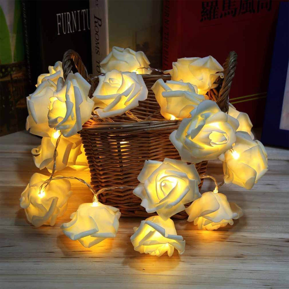 usb battery powered led heart shaped fairy string lights garland light christmas holiday valentine wedding party decoration lamp 2.2m Rose Flower LED String Lights Battery Powered Christmas Xmas Holiday Valentine Wedding Party Decoration Fairy String Light