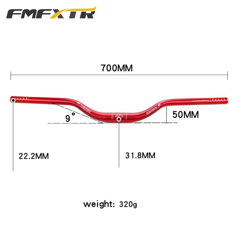 Manillar de bicicleta FMFXTR 700mm 31,8mm XM MTB DH downhill Carreras de bicicleta de montaña elevador de manillar barra elevadora 9 grados