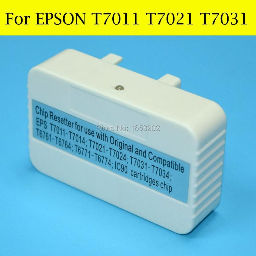 1 pieza Chip reseteador para Epson T7011 T7021 T7031 para EPSON Epson Pro WP-4535DWF WP-4515DN WP-4545DTW WP-4595DTWF impresora