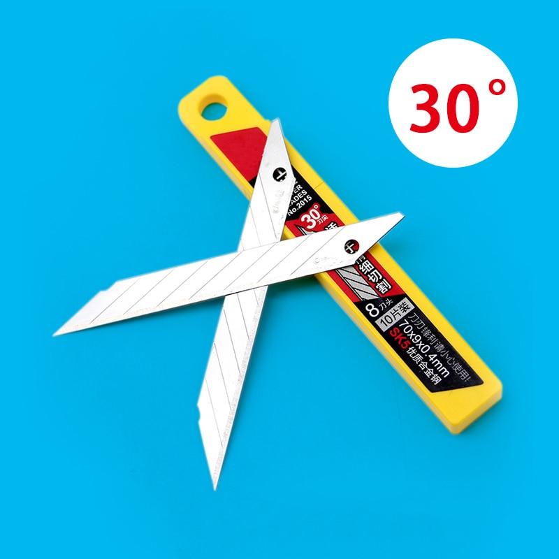 10 unids/caja Deli Art Blade 30 grados cuchilla recortadora escultura cuchillo de uso General