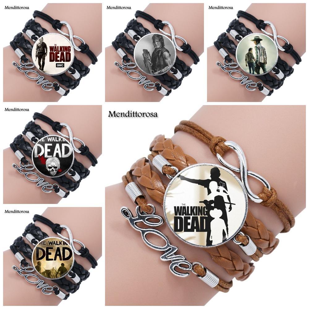 mendittorosa-dichiarazione-multistrato-bracciale-in-pelle-nera-marrone-braccialetto-fatto-a-mano-per-le-donne-gioielli-di-moda-the-walking-dead