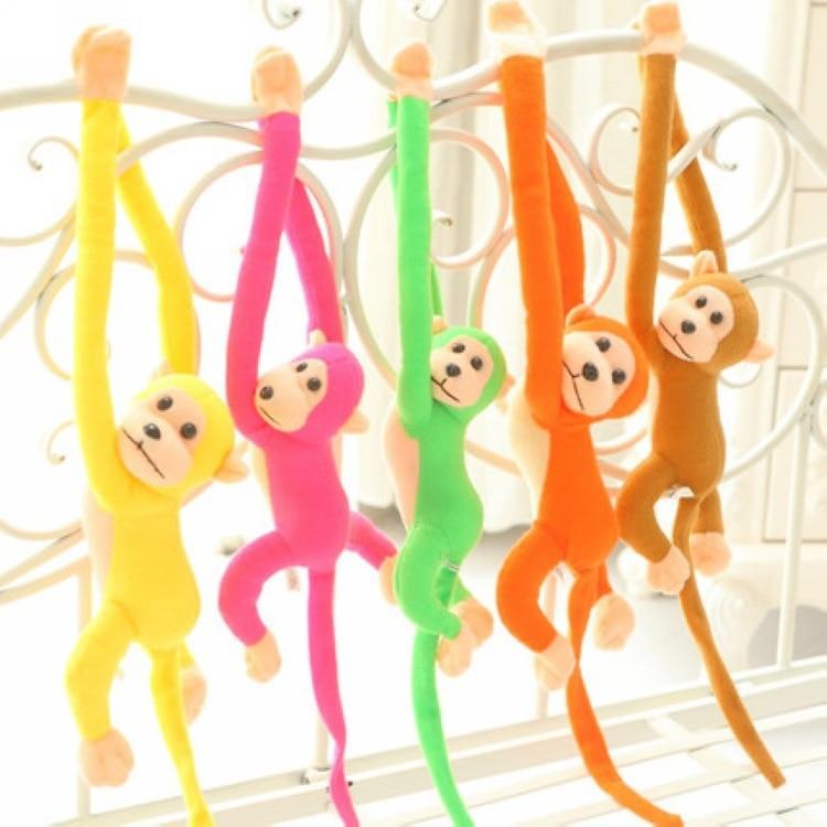 10Colors 60/70/80/90cm Long Arm Monkey Plush Toys Colorful Monkey Stuffed Animal Doll with Monkeys Voice