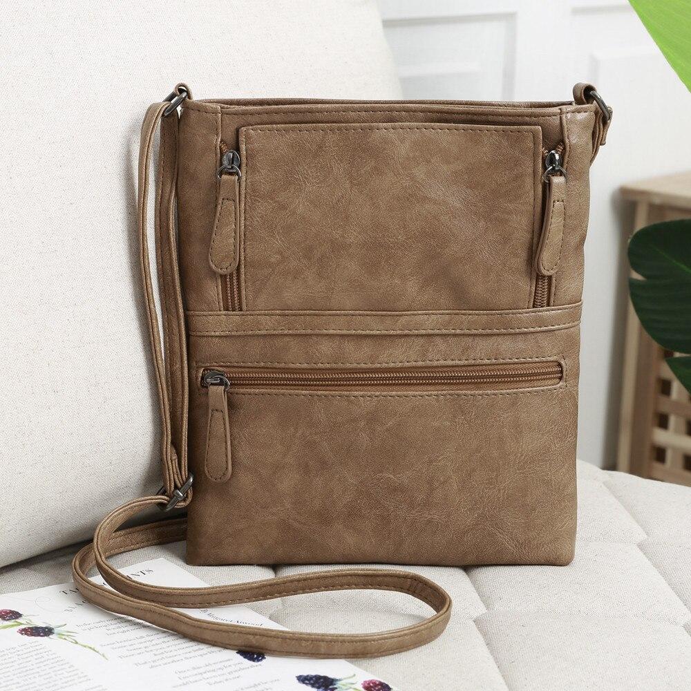 borse da donna 2020 Messenger Bag Popular New Style Fashion Womens Leather Purse Satchel Cross Body Zipper Shoulder Bag  A50