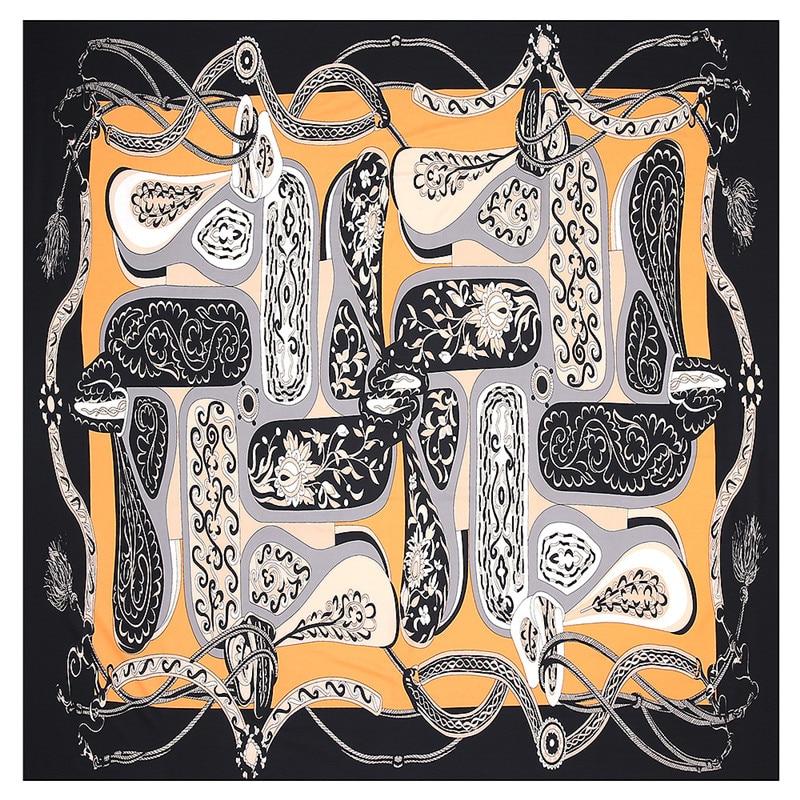 2020 nuevo cinturón Paisley Pañuelo cuadrado de la marca de lujo de 100% Sarga pañuelo de seda mujer pañuelo chal bufandas para mujer
