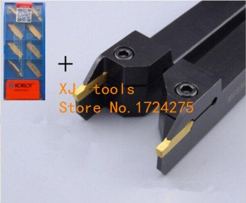 1 قطع MGEHR2020-6 MGEHR2525-6 الحز تحول أداة حامل و 10 قطع MGMN600 عزز كربيد إدراج الحز إدراج