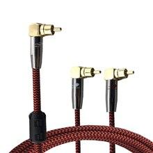 Audiophile Audio Kabel RCA zu 2 RCA Splitter Kabel Verstärker Decoder Subwoofer Lautsprecher Hifi Abgewinkelt RCA Splitter Y Kabel 1M