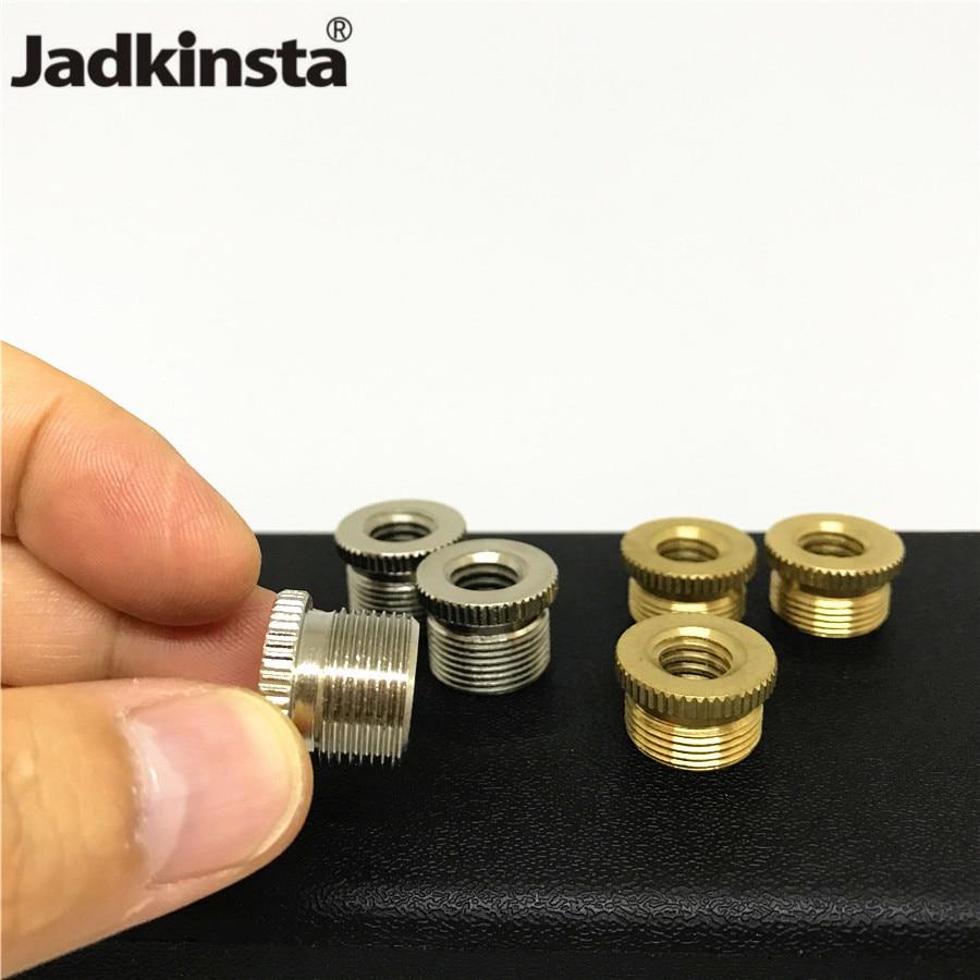 Jadkinsta 2PC Brass Microfono Adapter 3/8 Female to 5/8 Male Microphone Stand Adapter Mic Tripod Screw Mount Camera Accessories