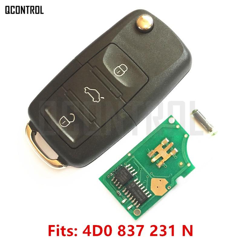 QCONTROL Автомобильный Дистанционный ключ для AUDI 4D0837231N для A3 A4 A6 A8 RS4 TT Allroad Quttro RS4 433,92 MHz 1994-2005