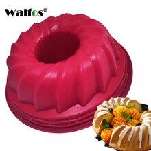 WALFOS moule de cuisson en Silicone   1 pièce Bundt anneau, moule à pâtisserie, moule à gâteaux, poêle à pain, étain outil de cuisson, fournitures de cuisine pour la maison