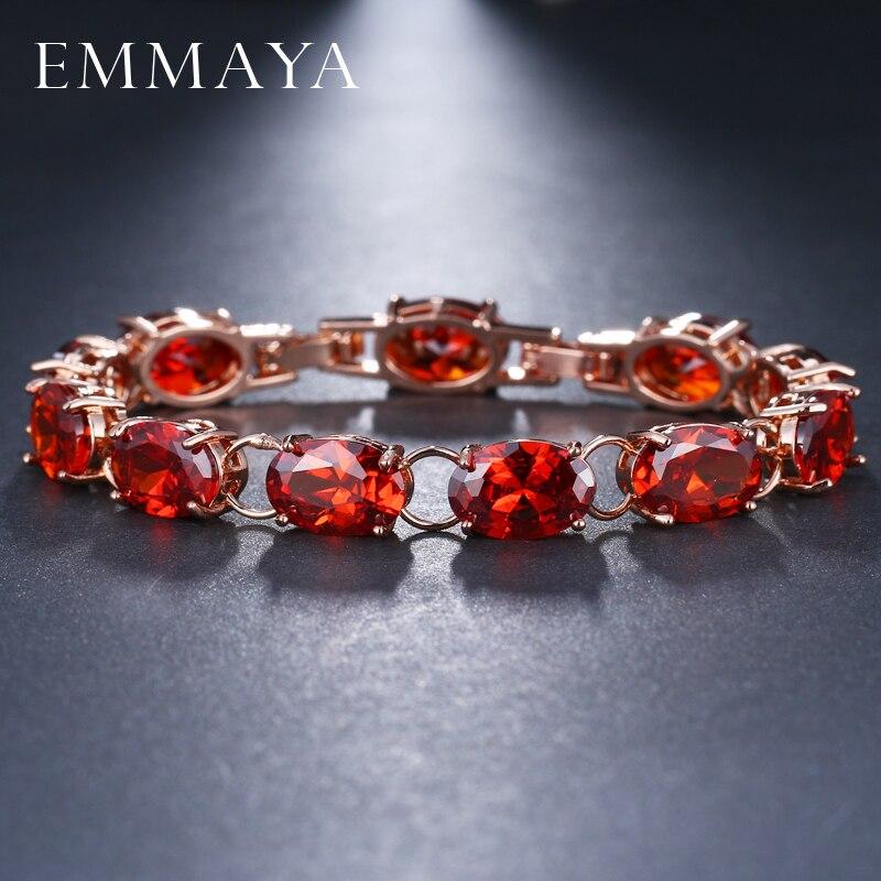 Высококачественные модные роскошные красные браслеты EMMAYA с фианитами для женщин