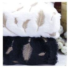 Feuille de lapin en velours PV, fleur en plumes et argent, tuftée chaude