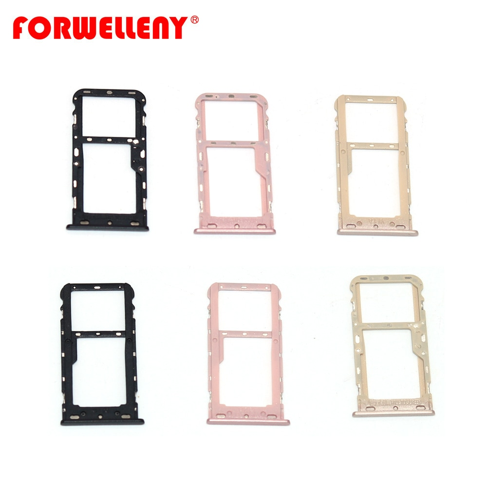 For xiaomi redmi 5 redmi5 Micro Sim Card Holder Slot Tray Replacement Adapters black gold pink недорого