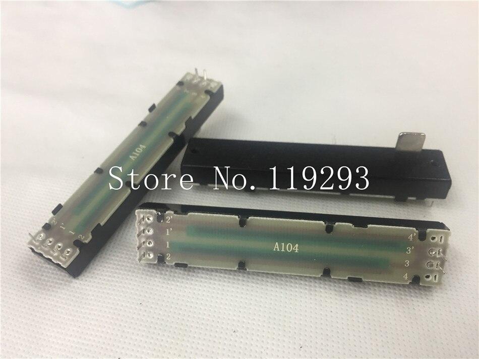[BELLA]88MM mixer fader double potentiometer handle 12MMB A100K A100KX2 push with slider--10PCS/LOT