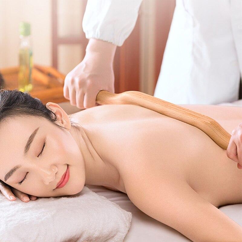 4 Pcs Natural Wood Gouache Massage Scraper Stick Fat Burner Back Shoulder Neck Waist Leg Cellulite Massage Tool slimming massage