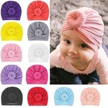 Bandeaux en coton solide pour bébés   15 couleurs, bandeau pour filles, accessoire bonnet extensible, couvre-chef, bébé cheveux