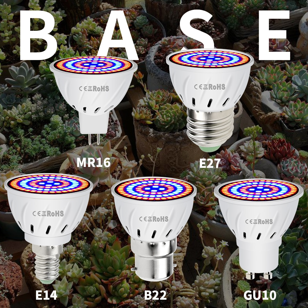 Phyto Led B22 Hydroponic Growth Light E27 Led Grow Bulb MR16 Full Spectrum 220V UV Lamp Plant E14 Fl