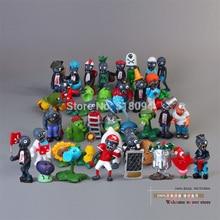 Plantes vs Zombies PVC figurines Action PVZ plante + Zombies Collection figurines jouets cadeaux 40 pièces/ensemble