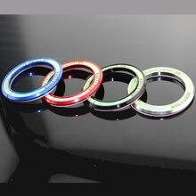 Ford Ecosport LHD 2012 2013 2014 2015 2016   Autocollant circulaire de clé, en aluminium, interrupteur de clé de voiture, trou de trou de clé, pour Ford Ecosport LHD 1 pièce