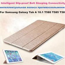 Für SM-T580 Tab A6 10,1 2016 Schlanke Smart Fall Abdeckung-Für Samsung Galaxy Tab EINE 10,1 T585 T587 tablet buch flip abdeckung fall