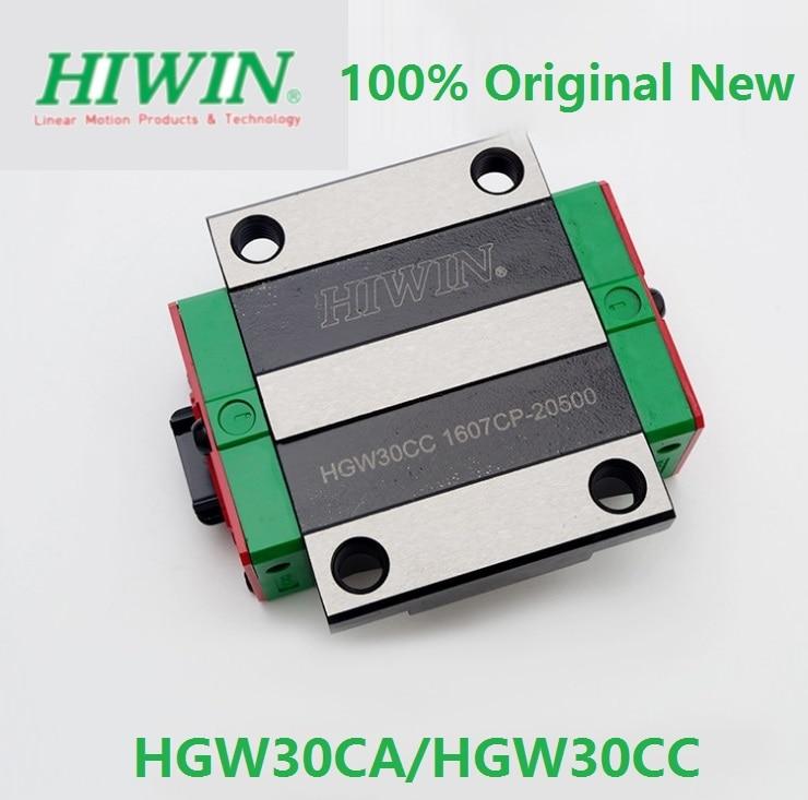2 pçs/lote HGW30CC HGW30CA 100% Original Hiwin marca HGR30 blocos lineares peças CNC trilho linear