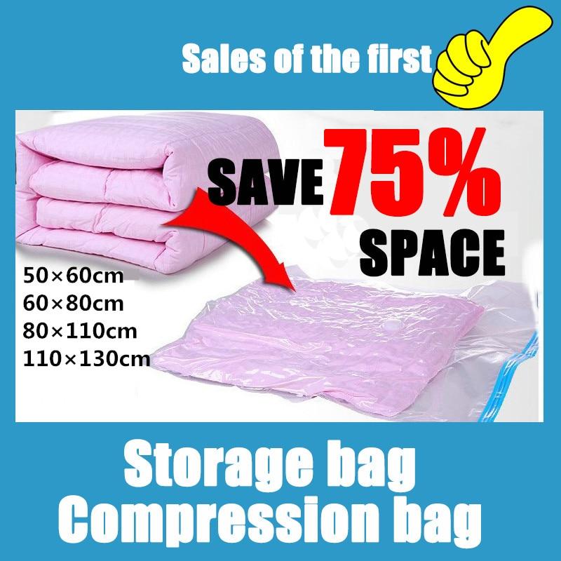 Super Big Size Space Saver Saving 80% Home organizer Bust Proof Storage Bag Seal Compressed Vacuum Bag Quilt Clothes