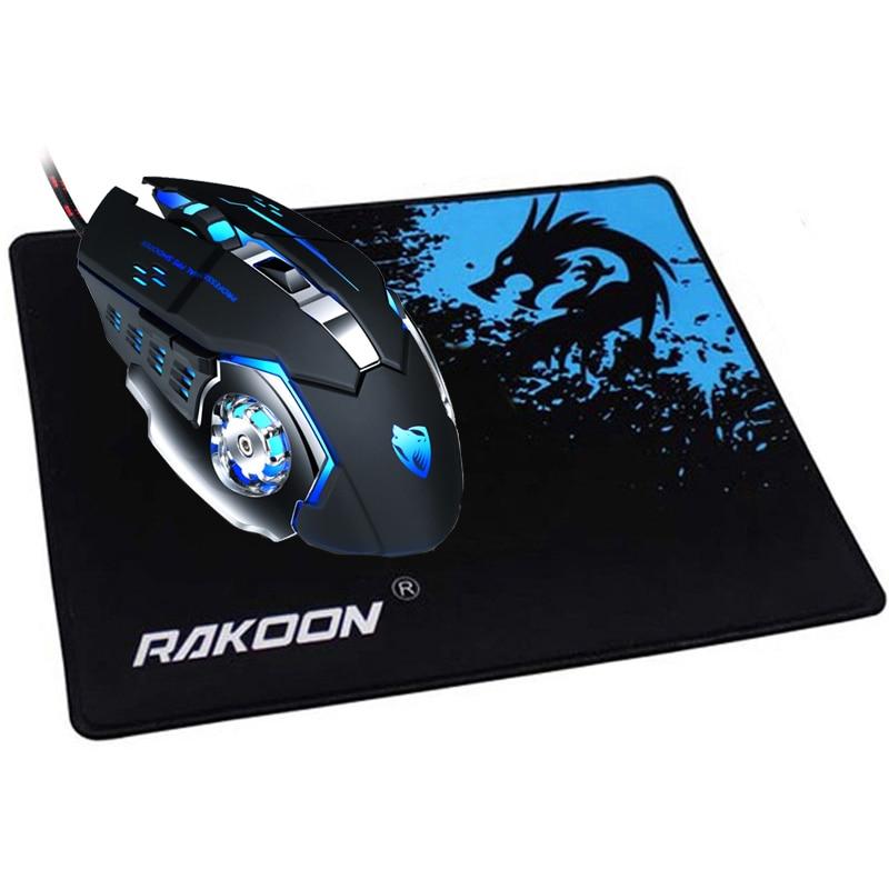 REEJOYAN RAKOON Gaming Mouse Pad Borda Bloqueio Premium-Texturizado Anti-slip Mouse Pad Mousepad De Borracha para Gamer ou uso diário