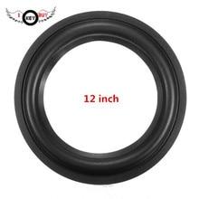Haut-parleur Woofer 12 pouces, 2 pièces de réparation de bord en caoutchouc, accessoires pour entourage souple, anneau en caoutchouc noir