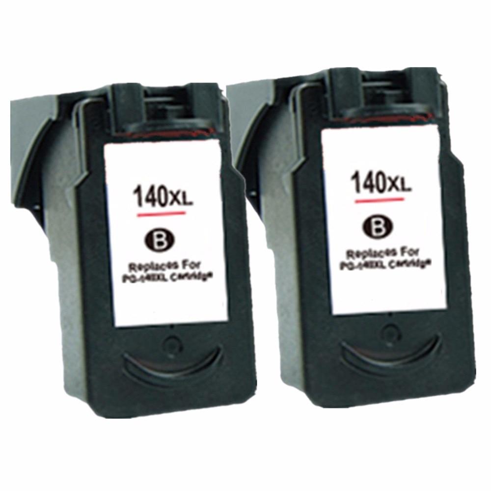 Cartuchos de tinta remanufacturados para Canon PG-140 PG 140 PG140 Pixma MG2580 MG2400 MG2500 impresora de inyección de tinta IP2880