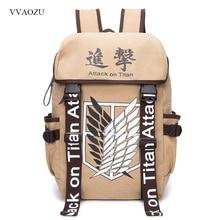 Anime Cosplay Attack on Titan Eren Bag Cartoon Canvas Backpack Shingeki no Kyojin Unisex Schoolbag Shoulders Travel Bags
