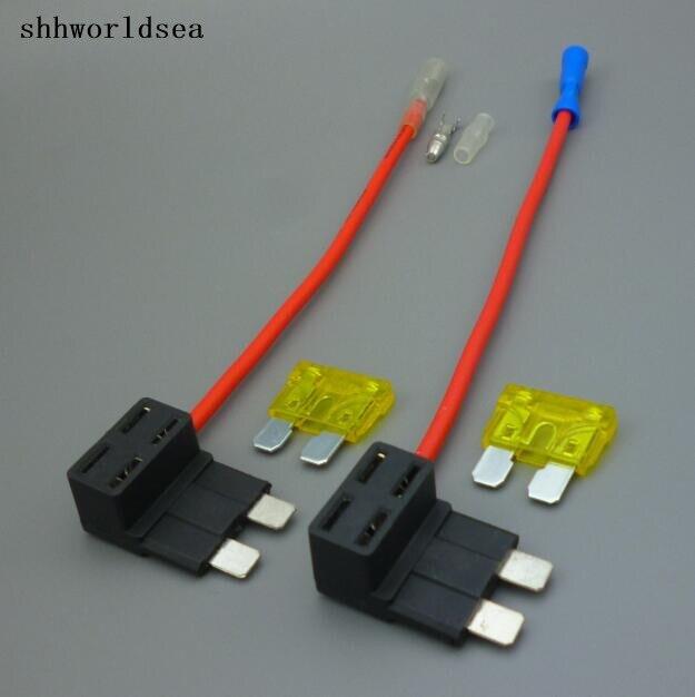 Shhworldssea 1 шт. 20A добавить цепи среднего лезвия коробки предохранителей держатель предохранителя адаптер крана комплект ACS ATO ATC свинка обратно