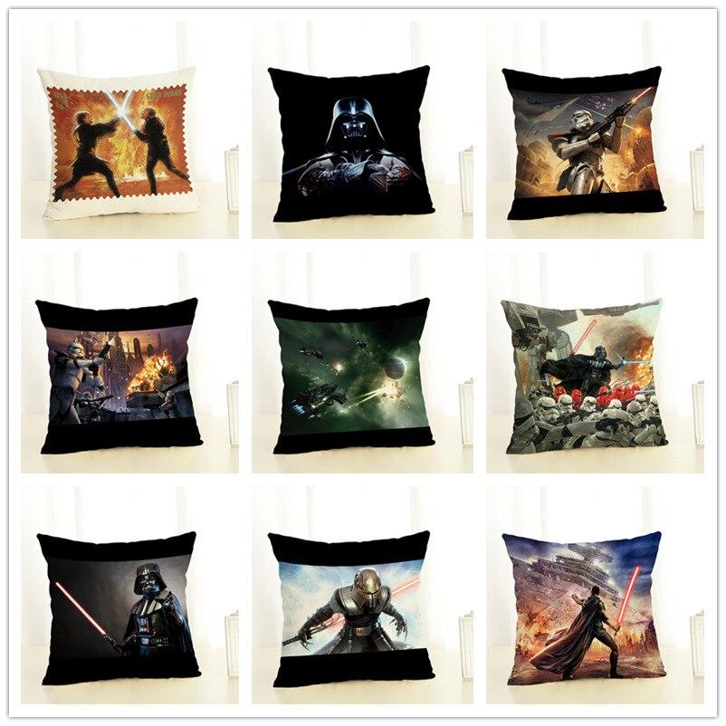 RECOLOUR  star war Cushion Cover gift for kids  pillow covers Linen Home Decorative Pillowcase cojines decorativos para sofa