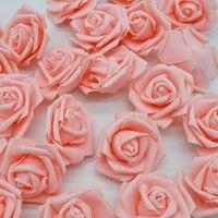 Roses artificielles en mousse PE 6cm  10 20 pieces  fleurs decoratives pour la maison  Bouquet de mariee  Scrapbooking  fournitures pour cadeau danniversaire