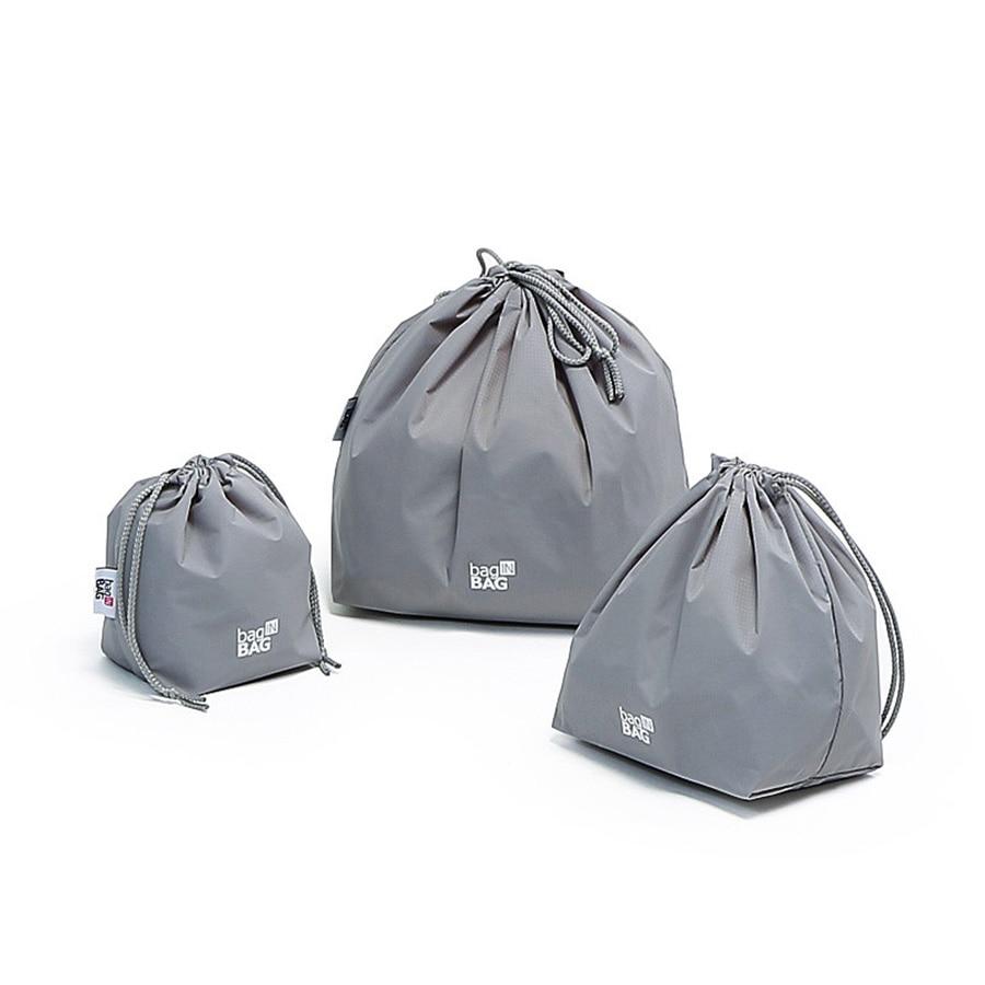 Bolsa de almacenamiento Con cordón impermeable de nailon, conjunto organizador de rollos, bolsa de maquillaje de viaje, cordón, pinzas Con envío Gratis 60A22
