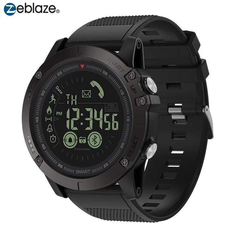 Reloj a prueba de agua inteligente Zeblaze VIBE 3 Bluetooth insignia resistente alarma de reloj inteligente reloj pasómetro Larga modo de reposo relojes de tiempo