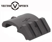 Optique vectorielle tactique profil bas Offset 45 Angle Weaver Picatinny Rail vue monture pour lampe de poche Laser 3 fentes 1.5 pouces