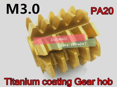 M3 módulo 70*60*27mm furo Interno revestimento PA 20 graus HSS Titânio placa Engrenagem Engrenagem de corte ferramentas Frete grátis
