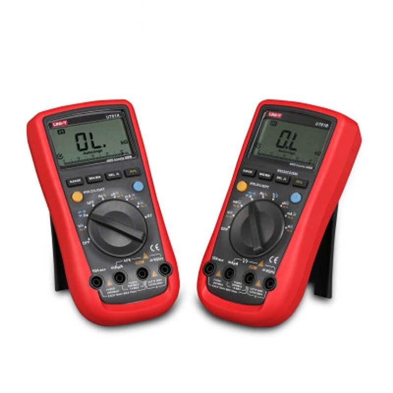 UNI-T multímetros UT61A UT61B UT61C UT61D UT61E moderno multímetro Digital anto de AC/DC de corriente de voltaje valores eficaces verdaderos multímetro