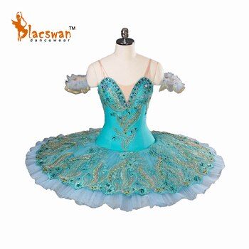 Aqua Blue Queen of the Dryads Variation Classical Ballet Tutu Costume Professional for Kids BT819