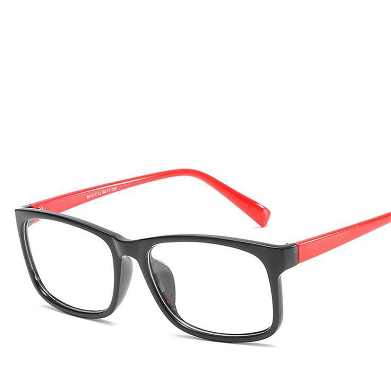 PC Frame 1.56 Aspherical Lens Prescription Glasses Women Men Clear Mirror Square Myopia Eyeglasses okulary korekcyjne 0~-4.0