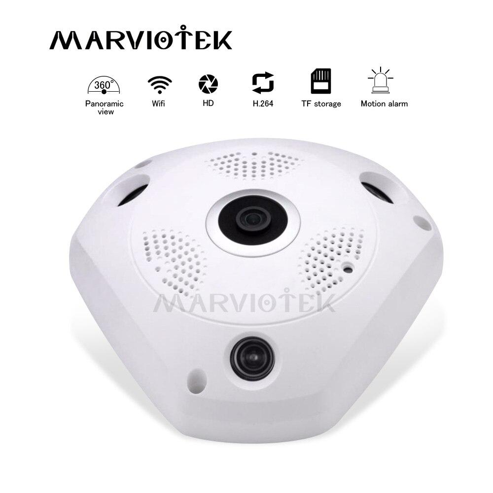 Inalámbrico 360 VR Cámara cámara IP wifi 3MP video vigilancia cctv cámara ip panorámica ptz digital mini HD cámara de ojo de pez de 960P p2p IR