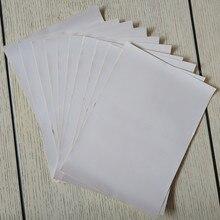 50 feuilles A4 auto-adhésif autocollant papier Surface brillante blanc étiquette vierge 210x290mm pour imprimante accepter commande personnalisée