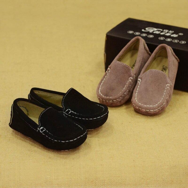 Детская обувь детская кожаная для девочек мокасины мальчиков однотонная на