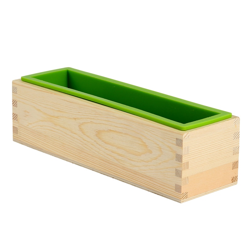 AliExpress - Silicone Soap Mold Rectangular Flexible Mould with Wooden Box for DIY Handmade Tool