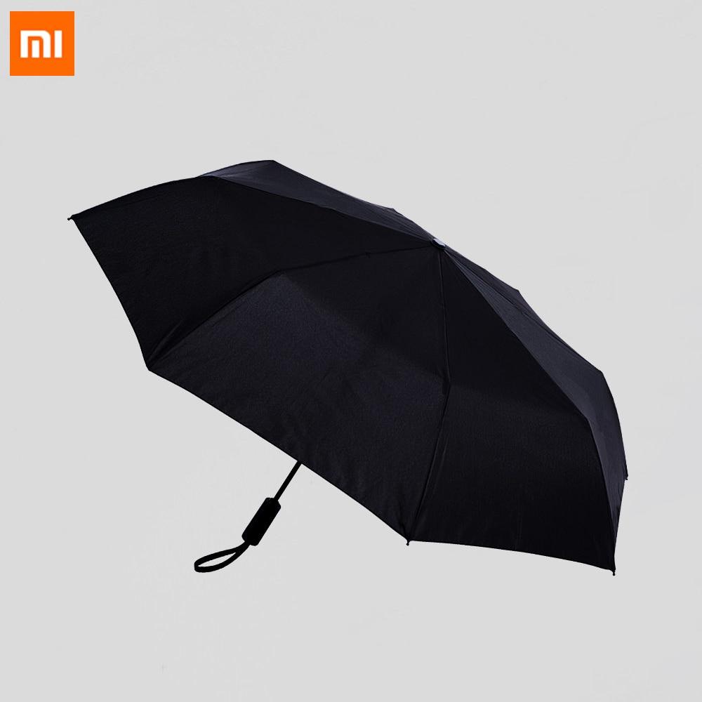 Xiaomi Mijia WD1 automática de lluvia paraguas soleado verano lluvioso de aluminio a prueba de viento impermeable UV sombrilla Parasol hombre mujer