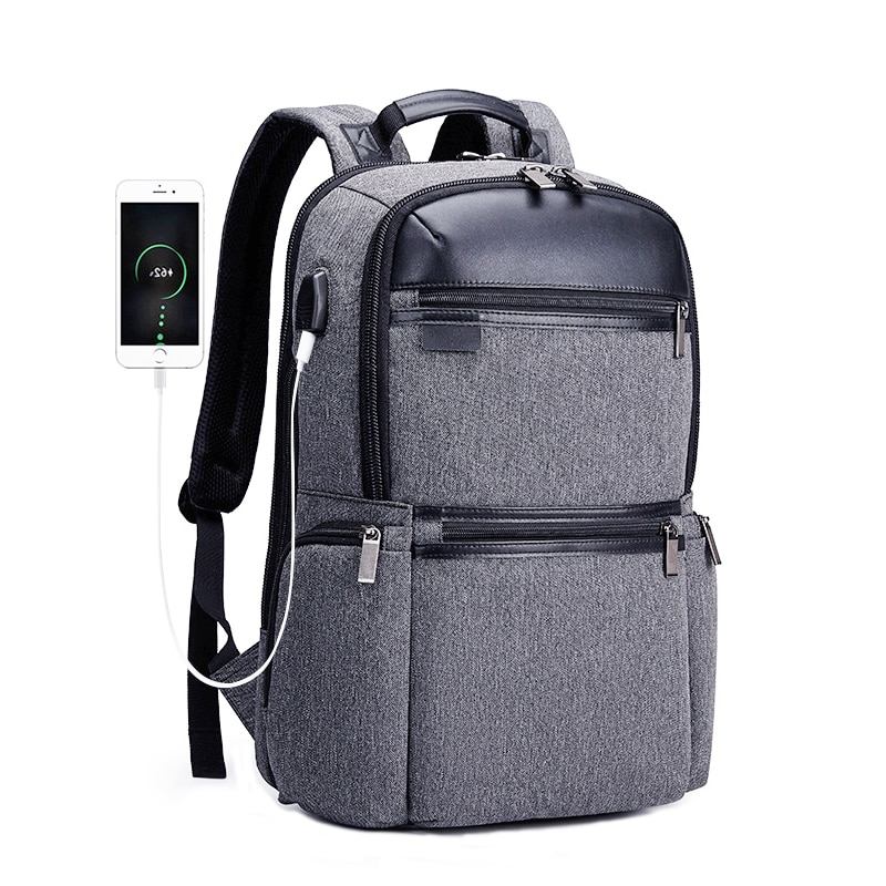 Mochilas Anti robo a prueba de agua de gran capacidad USB para el ordenador portátil de 17 pulgadas, mochila de hombre para la escuela de viaje para adolescentes mochila