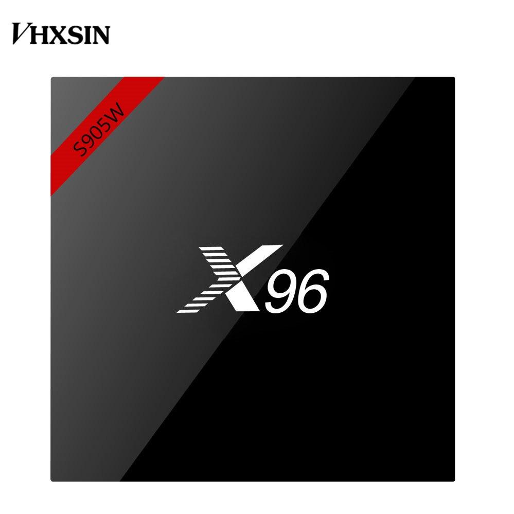 VHXSIN 5 pièces/lot X96W Smart tv box android 7.1 2GB RAM 16GB ROM Amlogic S905W Quad Core H.265 x96