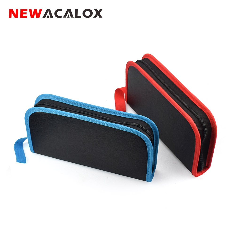 NEWACALOX Electric Iron Set Electronic Repair Tool Set Solder Wire Multi-function Portable Household Electric Iron Tool Bag